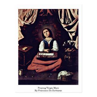 Praying Virgin Mary By Francisco De Zurbaran Postcard