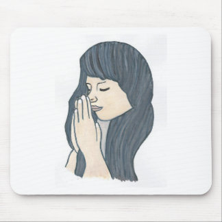 Praying woman mousepad