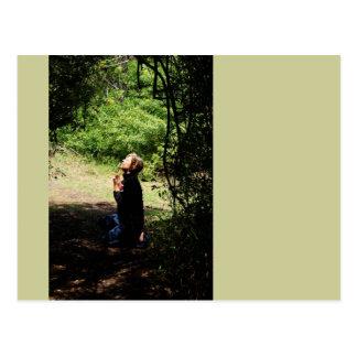 Praying Woman Postcard