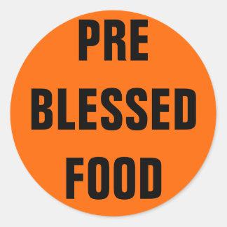 PRE BLESSED FOOD ROUND STICKER