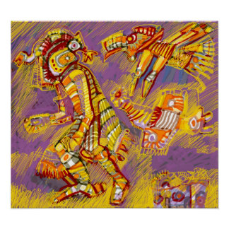 Pre-Columbian God of the Birds Poster