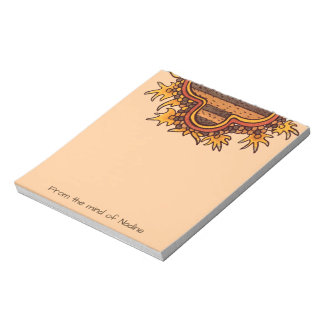 Pre-Columbian Mexican Design Personalized Notepads