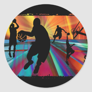 Pre-Game Warmup Zoom Perspective Round Sticker