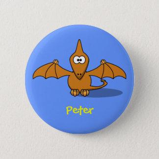 Pre-historc pterodactyl 6 cm round badge