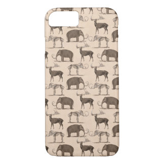 Pre-Historic Mammals Megaceros and Woolly Mammoth iPhone 7 Case