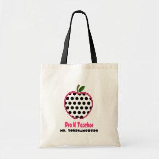 Pre K Teacher Bag - Polka Dot Apple