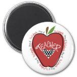 Pre K Teacher Red Apple Refrigerator Magnets