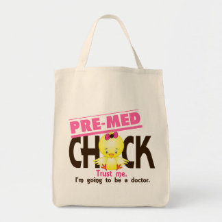 Pre-Med Chick 3 Grocery Tote Bag