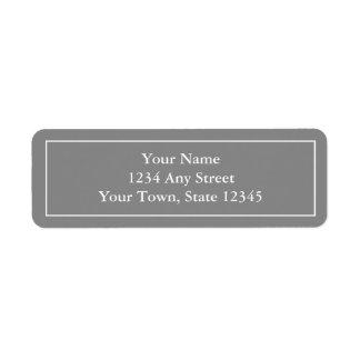 Pre-printed Gray Return Address Label Stickers