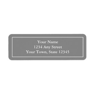 Pre-printed Grey Return Address Label Stickers