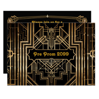 Pre-Prom invitation, Quinceanera,Gatsby V3 Card