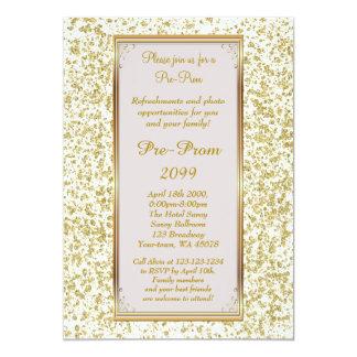 Pre Prom, Pre-Prom,Sweet-sixteen,Glitter on Ivory Card