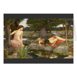 Pre-Raphaelite Painting Echo and Narcissus Card