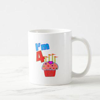 "Pre School Birthday ""I'm 4"" Adorable Cupcake Mugs"