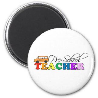 Pre-school Teacher 6 Cm Round Magnet