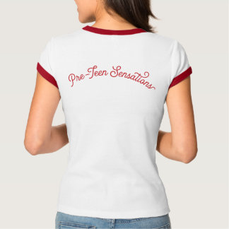 Pre-Teen Sensations Ringer Tee (Red/White)