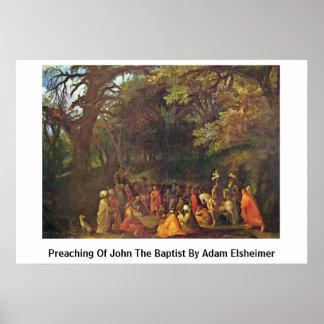 Preaching Of John The Baptist By Adam Elsheimer Poster