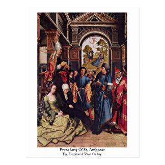 Preaching Of St. Ambrose By Bernard Van Orley Postcards