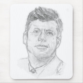 Preaident John F. Kennedy sketched in 1963 Mouse Pad