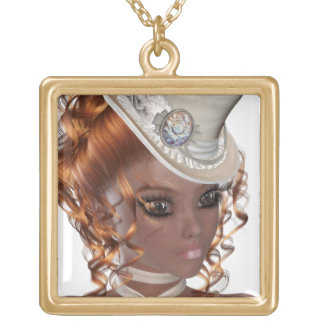 Precious African American Woman Gold Plated Necklace