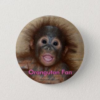 Precious Baby Orangutan 6 Cm Round Badge