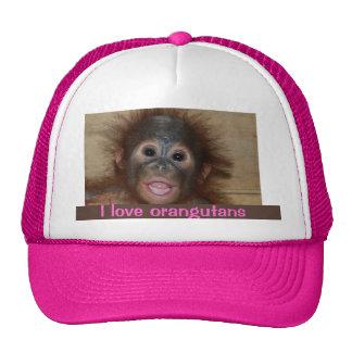 Precious Baby Orangutan Mesh Hat