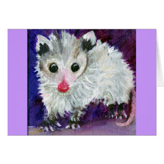 Precious Baby Purple Possum Card