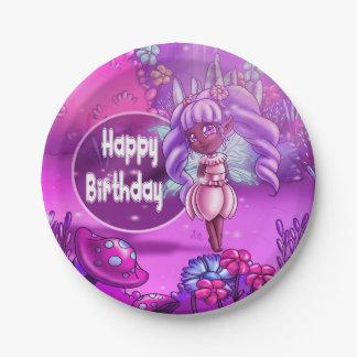 "Precious Birthday Paper Plates 7"", Fairy"
