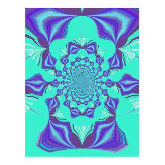 Precious blue postcard