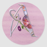 Precious Butterfly Initial A Sticker