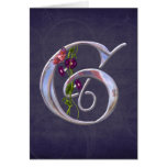 Precious Butterfly Initial G Greeting Card