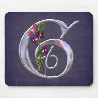 Precious Butterfly Initial G Mousepad
