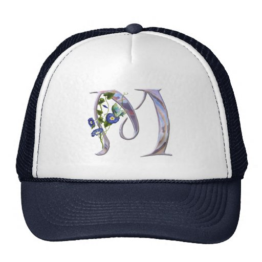 Precious Butterfly Initial M Mesh Hat