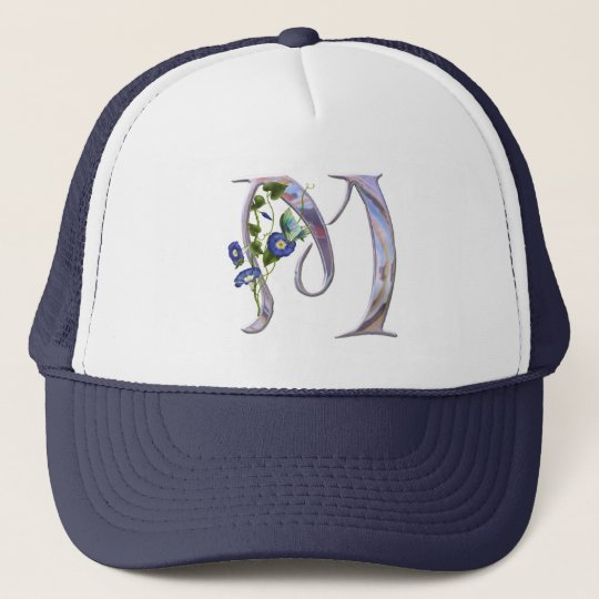 Precious Butterfly Initial M Trucker Hat