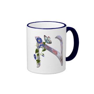 Precious Butterfly Initial N Coffee Mug