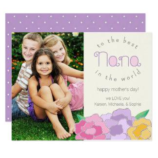 Precious Florals Happy Mother's Day Nana Card 11 Cm X 14 Cm Invitation Card