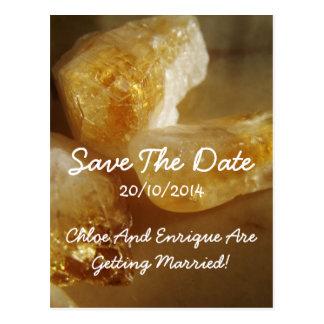 Precious Gemstones Photo Wedding Save the Date Postcard