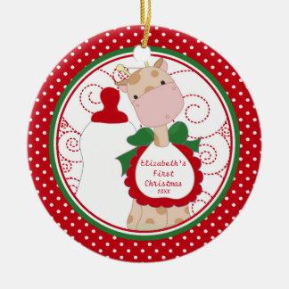 Precious Giraffe Baby's First Christmas Ornament