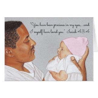 Precious in my Eyes & I Love You~Scripture~Newborn Card