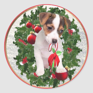 Precious Jack Russell Christmas Stickers