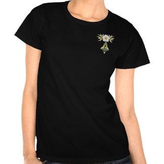 PRECIOUS JEWELS Nouveau enamel & diamond flower Tee Shirts