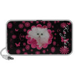 Precious Kittens & Cats Pink Flowers iPhone Speakers