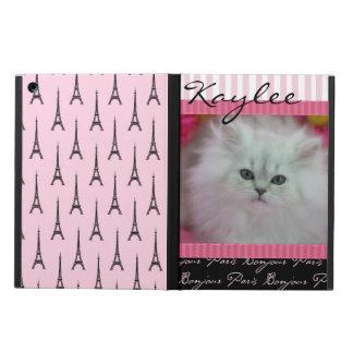 Precious Kittens Paris Theme Cover For iPad Air