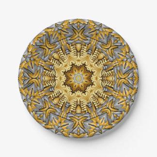 Precious Metal Kaleidoscope Paper Plates