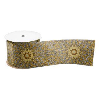 "Precious Metal Kaleidoscope  Ribbon. 1.5"" or 3"" Satin Ribbon"