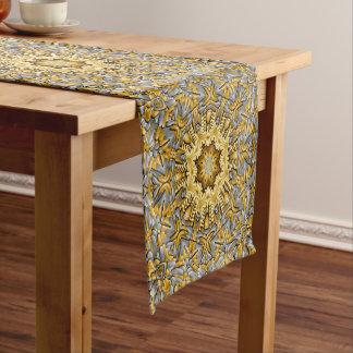 Precious Metal Kaleidoscope   Table Runner