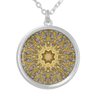 Precious Metal Vintage Kaleidoscope   Necklace