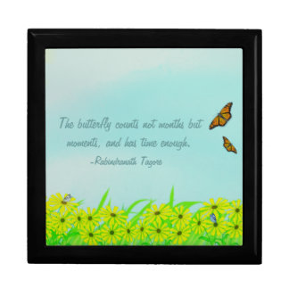 Precious Moments Butterflies Quote Large Square Gift Box