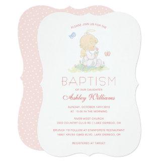 Precious Moments   Girl - Baptism Card