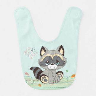 Precious Moments | Woodland Baby Raccoon Bib